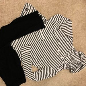 EUC Hooded Long Sleeve Top🖤